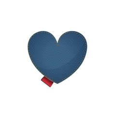 Isolated denim heart design vector