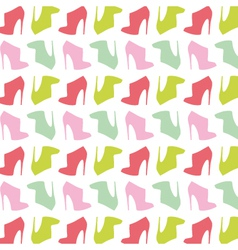 Woman shoes seamless pattern vector