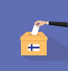 Finland election vote concept with vector