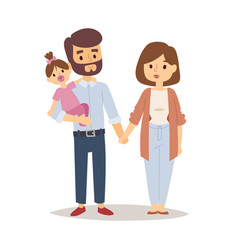 Family happy couple cartoon relationship vector