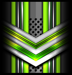 Abstract green metal background vector