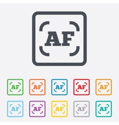 Autofocus photo camera sign icon af settings vector