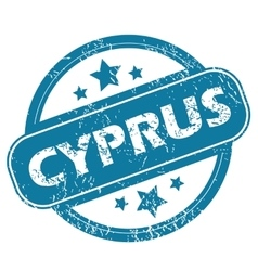 Cyprus round stamp vector