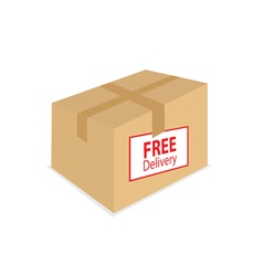 Free delivery on the box vector