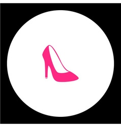 Simple lady court shoe isolated pink icon eps10 vector