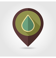 Water rain drop retro flat pin map icon weather vector