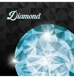 Diamond icon elegant concept gem design vector