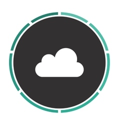 Cloud computer symbol vector