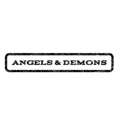 Angels demons watermark stamp vector