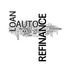 Auto refinance text word cloud concept vector