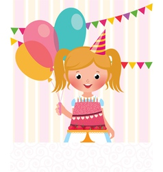 Birthday girl vector image