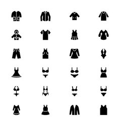 Clothes icons 1 vector