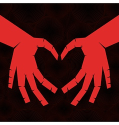 heart shaped hands vector image vector image