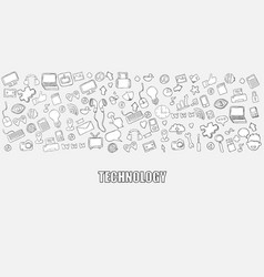hello technology background with media icons vector image vector image