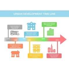 Infographic timeline elements with real estate vector image vector image