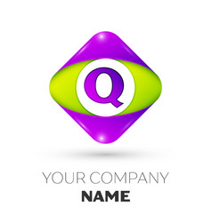 Letter q logo symbol in colorful rhombus vector
