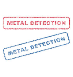 Metal detection textile stamps vector