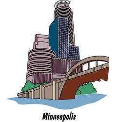 Minneapolis Minnesota vector image