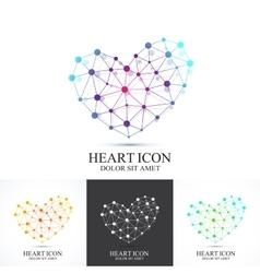 Modern set icon heart heart logo template vector