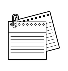 notebook sheet with metal click vector image vector image