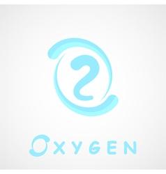 Oxygen logo o2 shape vector