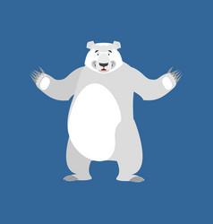 Polar bear happy emoji wild animal arctic and vector
