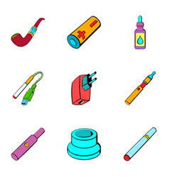 Recharge icons set cartoon style vector