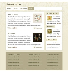 Retro website template vector