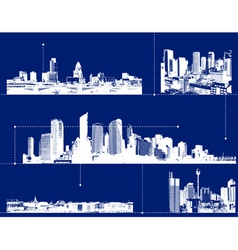 set of cities vector image vector image