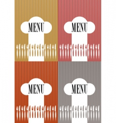 set of menu card covers vector image vector image