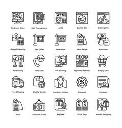 Shopping colored icons set 7 vector