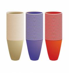 stacked plastic cups vector image vector image