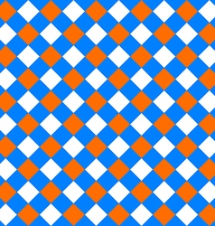Table diagonal cloth seamless pattern orange and vector image vector image