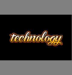 Technology word text banner postcard logo icon vector