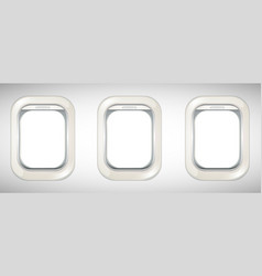 Three windows on airplane vector