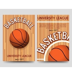 Univercity basketball flyer template with ball vector image vector image