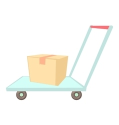 Warehouse trolley icon cartoon style vector