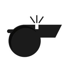 wistle referee silhpuette icon vector image