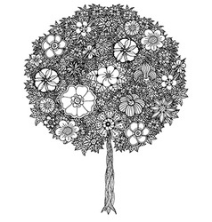 Abstract tree drawing vector