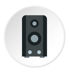 Music speaker icon flat style vector