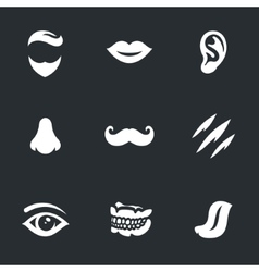Set of face parts vector