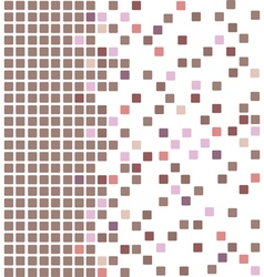 Brown mosaic vector