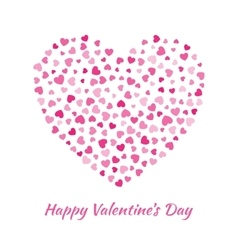 Pink heart valentines day card background vector