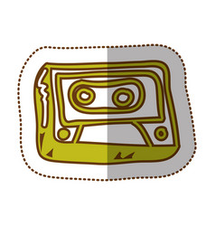 Electric radio technology icon vector