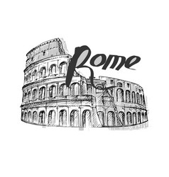 hand drawn colosseum vector image