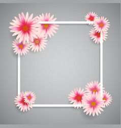 Easter background of spring flowers vector