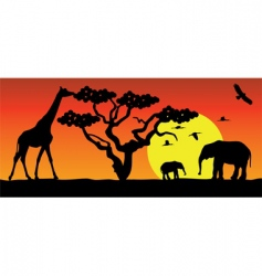 animals in Africa vector image