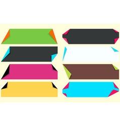 Fold corner paper vector