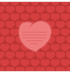 Heart on red background vector