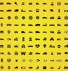 100 car icons vector